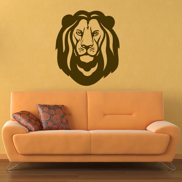 Lion Head Animal Vinyl Wall Art