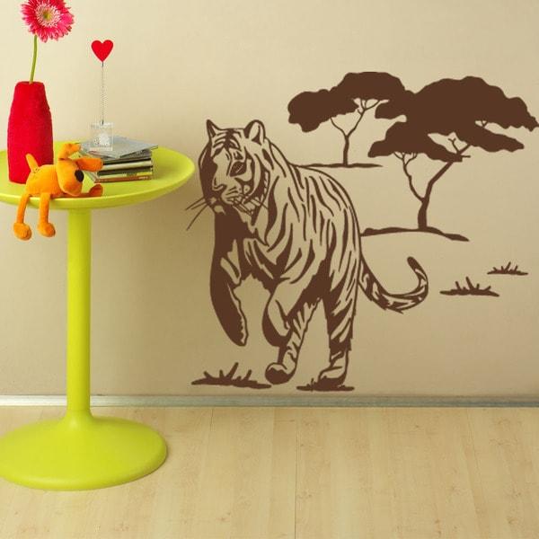 Wild Tiger Animal Vinyl Wall Art 15910312