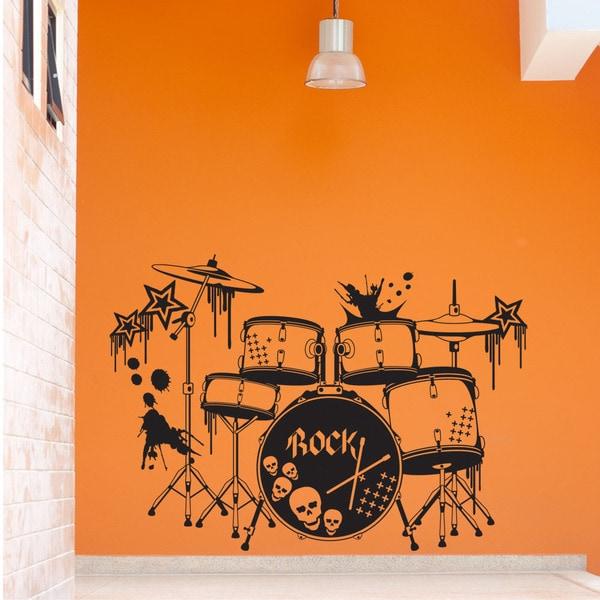 Drums Music Vinyl Wall Art
