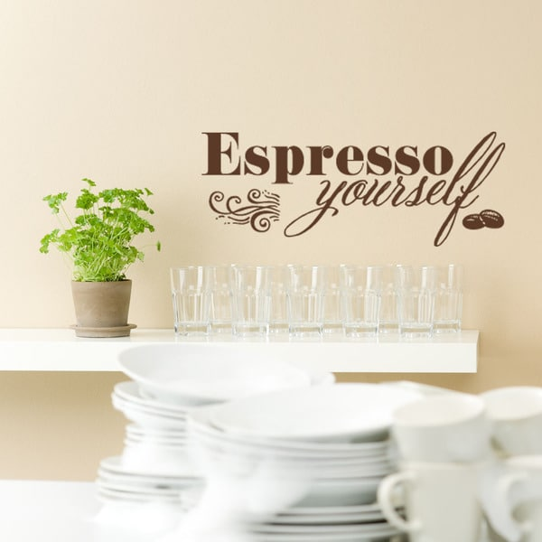 Espresso Yourself Coffee Vinyl Wall Art