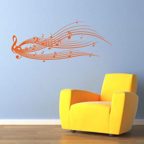 Music Notes Music Vinyl Wall Art