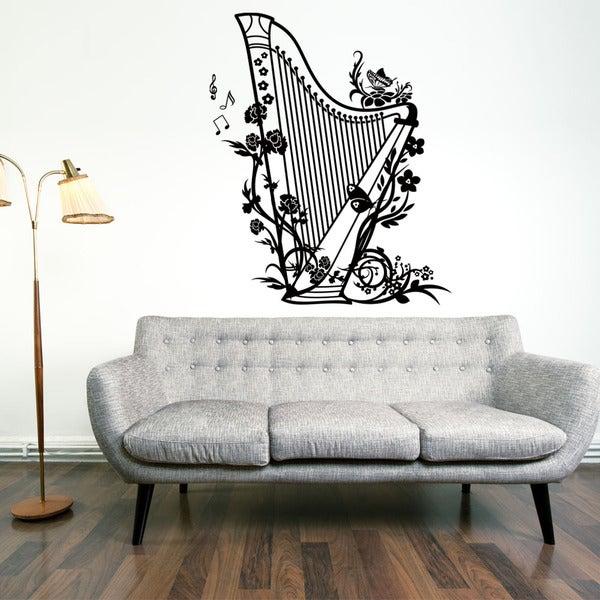 Harp Music Vinyl Wall Art