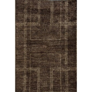 Hand-knotted Morocco Chocolate Area Rug (7' x 9')