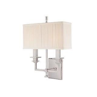 Hudson Valley Berwick 2-light Wall Sconce, Polished Nickel