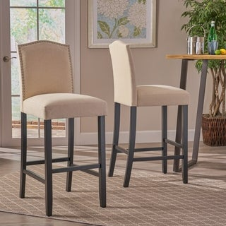 Christopher Knight Home Logan Fabric Backed Barstool (Set of 2)