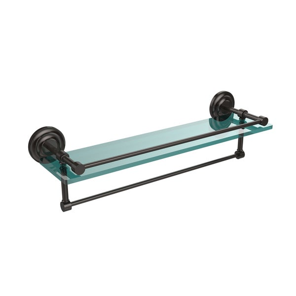 Gallery Glass Shelf with Towel Bar
