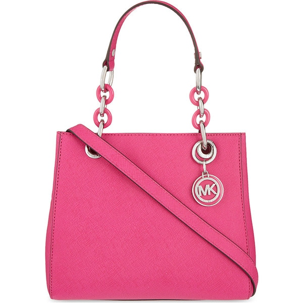 MICHAEL Michael Kors Cynthia Small North South Raspberry Satchel
