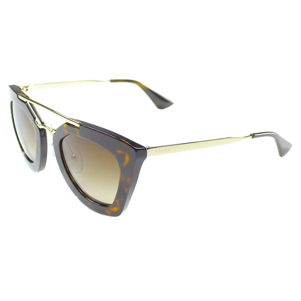 Prada Women's Cinema PR 09QS 2AU6S1 Havana Cat Eye Sunglasses