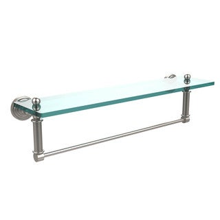 Waverly Place Collection 22-inch Glass Vanity Shelf with Integrated Towel Bar