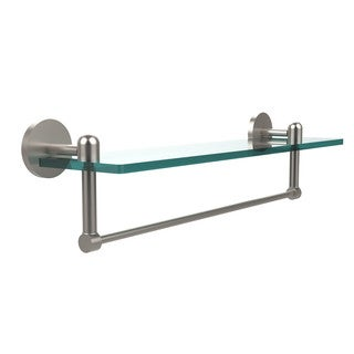 Tango Collection 22-inch Glass Vanity Shelf with Integrated Towel Bar