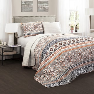 Lush Decor Nesco 3-Piece Quilt Set