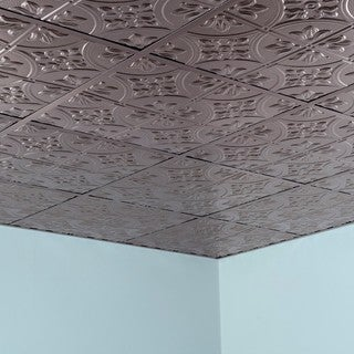 Fasade Traditional Style #2 Brushed Nickel 2-foot x 2-foot Lay-in Ceiling Tile