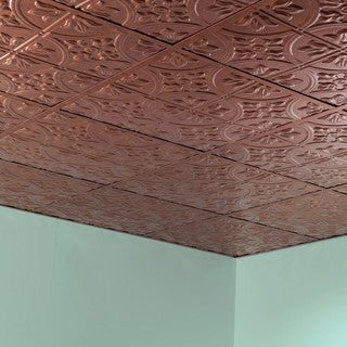 Fasade Traditional Style #2 Antique Bronze 2-foot x 2-foot Lay-in Ceiling Tile