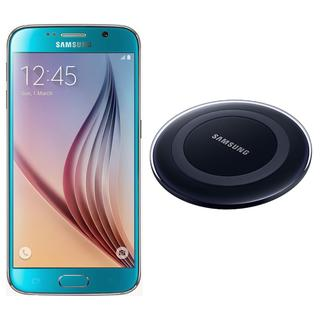 Samsung Galaxy S6 G920I 32GB Unlocked GSM Cell Phone Blue + Samsung Wireless Charger
