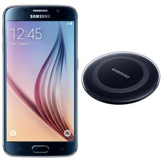 Samsung Galaxy S6 G920I 32GB Unlocked GSM Cell Phone Black + Samsung Wireless Charger