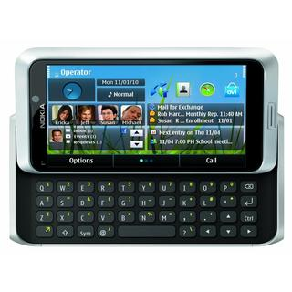 Nokia E7 E7-00 16GB Unlocked GSM Touch Slide-out Keyboard Silver Phone with 8MP Camera