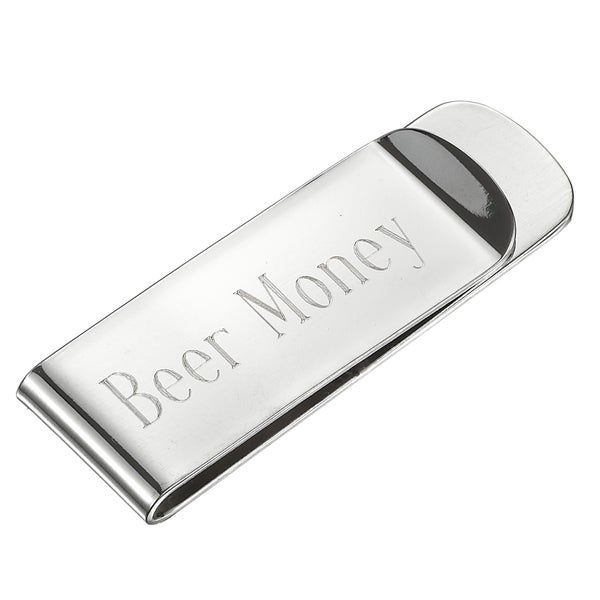 Visol Beer Money Silver Plated Money Clip