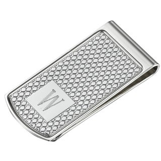 Visol Diamond Personalized Stainless Steel Money Clip - W