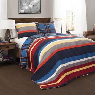 Lush Decor Cliveden Reversible 3-piece Quilt Set