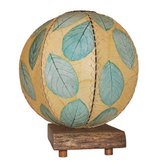 Eangee Driftwood Sea Blue Orb Table Lamp (Philippines)