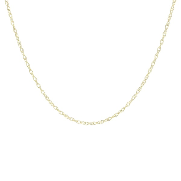 14k Yellow Gold Carded Rope 18-inch Chain Necklace
