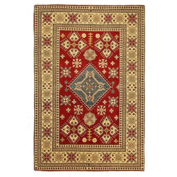 Mesa Collection Hand-knotted Wool Red Super Kazak Area Rug (8'2 x 12'1)