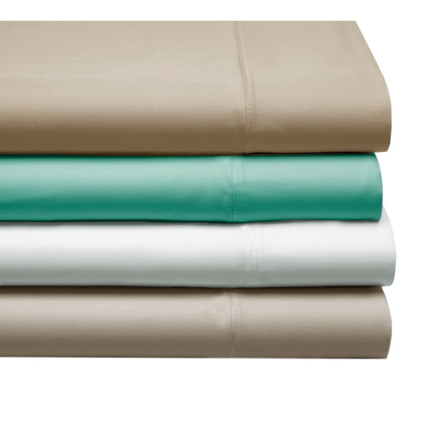 100-percent Cotton Satin 4-piece Sheet Set with 2 Bonus Pillow Cases