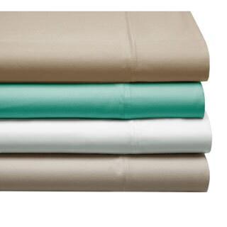 100-percent Cotton Satin 4-piece Sheet Set with 2 Bonus Pillow Cases