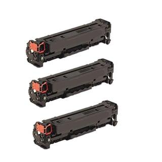 Compatible HP CC530A Black Toner Cartridge CP2025 CP2025dn CP2025n CP2025x (Pack of 3)