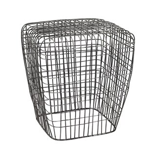 LS Dimond Home Woven Wire Stool