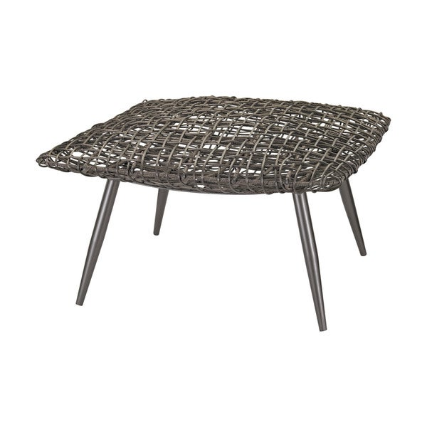 LS Dimond Home Woven Wicker Stool