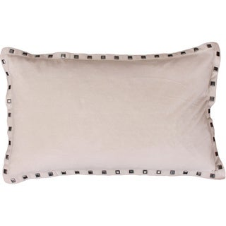 Payton Nailhead Feather Filled 12x20 Throw Pillow