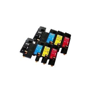 Dell C1250 Toner Compatible Dell C1250 ( 2BK C M Y ) Cartridge 1355cn1355cnw ( Pack Of 8 )