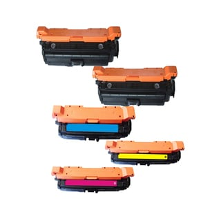 Compatible HP CE260X CE261A CE262A CE263A Black Cyan Magenta Yellow Toner Cartridge 4525 4025 (Pack Of 5)