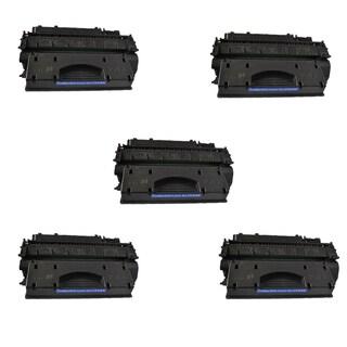 Compatible HP CE505X Black Toner Cartridge P2055 P2055d P2055dn P2055x (Pack of 5)