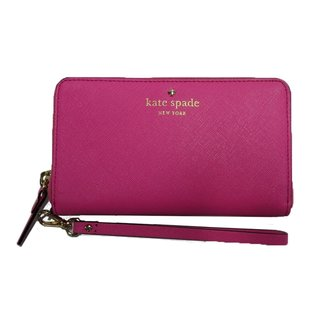 Kate Spade New York Jordie Leather Vivid Snapdragon Wristlet