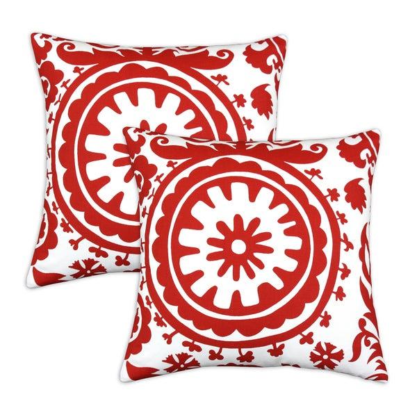 Suzani Lipstick 17x17 Pillows (Set of 2)