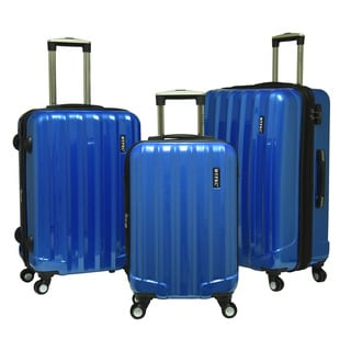 Travelers Club Rio 3-piece Expandable Hardside Spinner Luggage Set