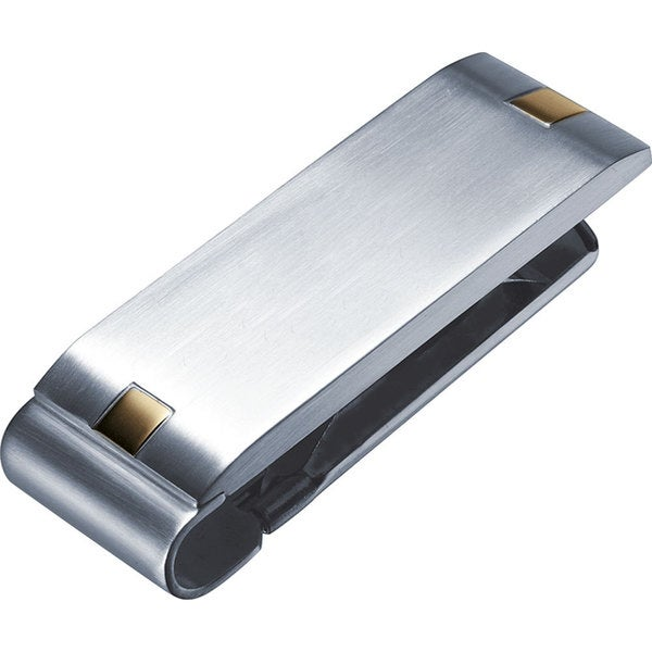 Visol Andromeda Stainless Steel and Gold Plated Accents Money Clip