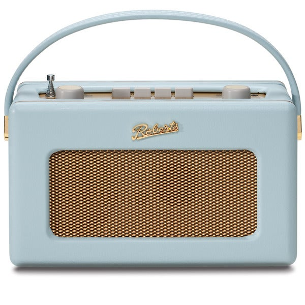 Robert's Radio 1950's Style Duck Egg Blue Leather Finish Retro Radio