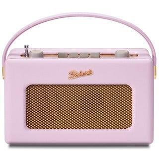 Robert's Radio 1950's Style Pastel Pink Leather Finish Retro Radio