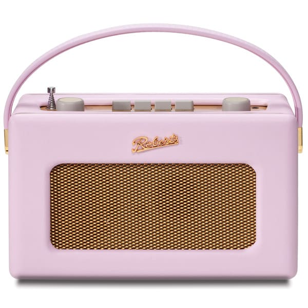 Robert's Radio 1950's Style Pastel Pink Leather Finish Retro Radio