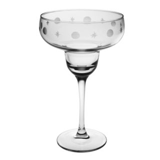 Juanita Hand-Cut Margarita Glass (Set of 4)