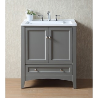 Stufurhome 30.5-inch Grey Laundry Utility Single Sink