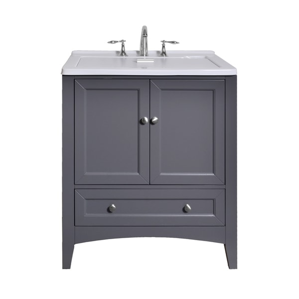 Stufurhome 30.5 inch Grey Laundry Utility Sink