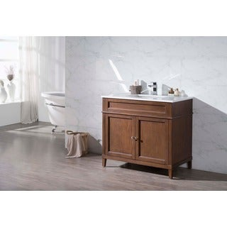 Stufurhome Hamilton 37 Inch Single Sink Bathroom Vanity