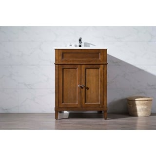 Stufurhome Hamilton 25 Inch Single Sink Bathroom Vanity