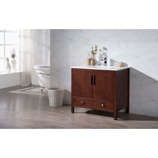 Stufurhome Rockford 37 Inch Single Sink Bathroom Vanity