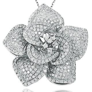 Suzy Levian Pave Cubic Zirconia Sterling Silver Pendant