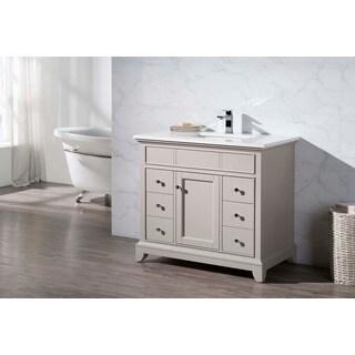 Stufurhome Arianny 37 Inch Single Sink Bathroom Vanity